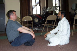 Baba Shuddhaanandaa always takes time to teach a  willing student how to breathe properly